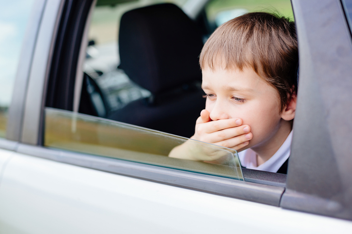 How To Cope With Your Child's Car Sickness